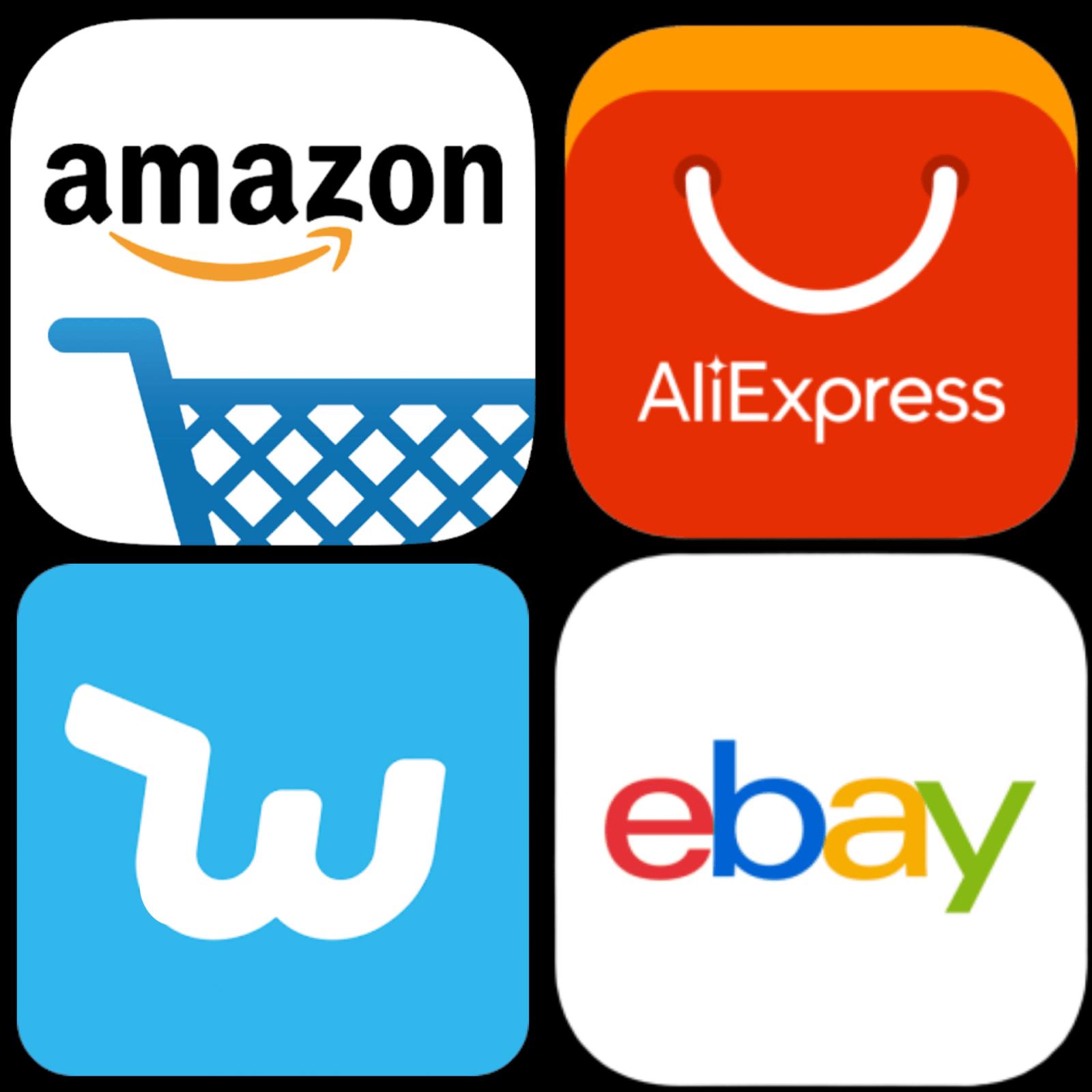 Dropshipping ejemplos de empresas Ali express amazon ebay wish