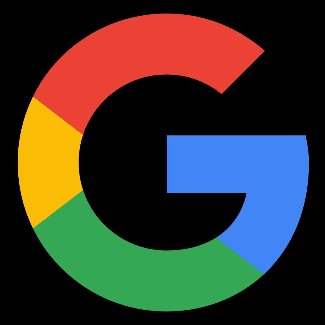 Google Logo Fondo negro