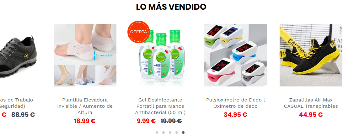 Productos Shopify